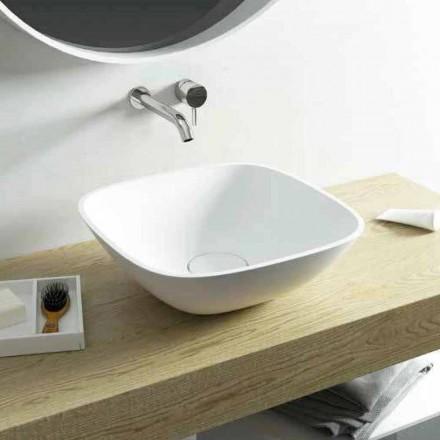 Fyrkantig bänkskål tillverkad 100% i Taormina Mini i Italien
