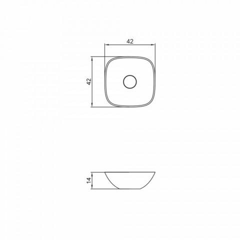 Frittstående handfat ba kvadrat gjort i Italien Taormina Mini