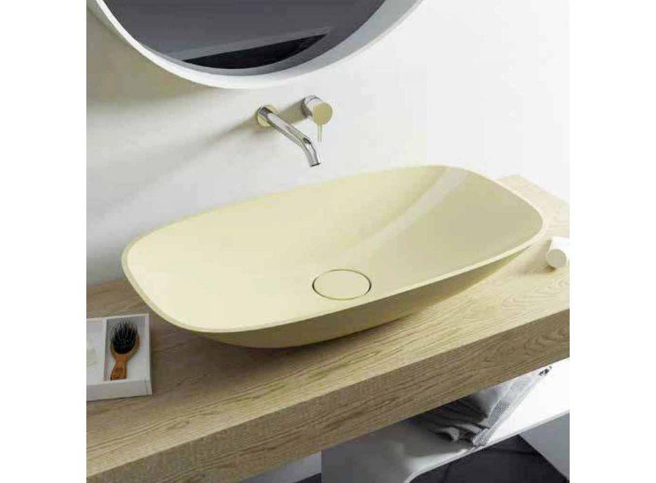 Modern design gjord i Italien frittstående badrum sjunker Taormina Big