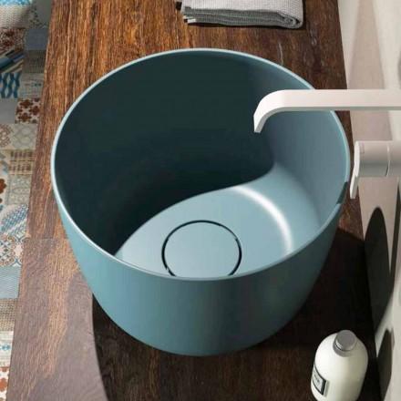 Cirkulär tvättställ för bänkskivan producerade 100% i Italien, Lallio