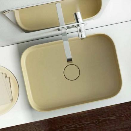 Färgad tvättställ i modern design tillverkad 100% i Italien, Formicola