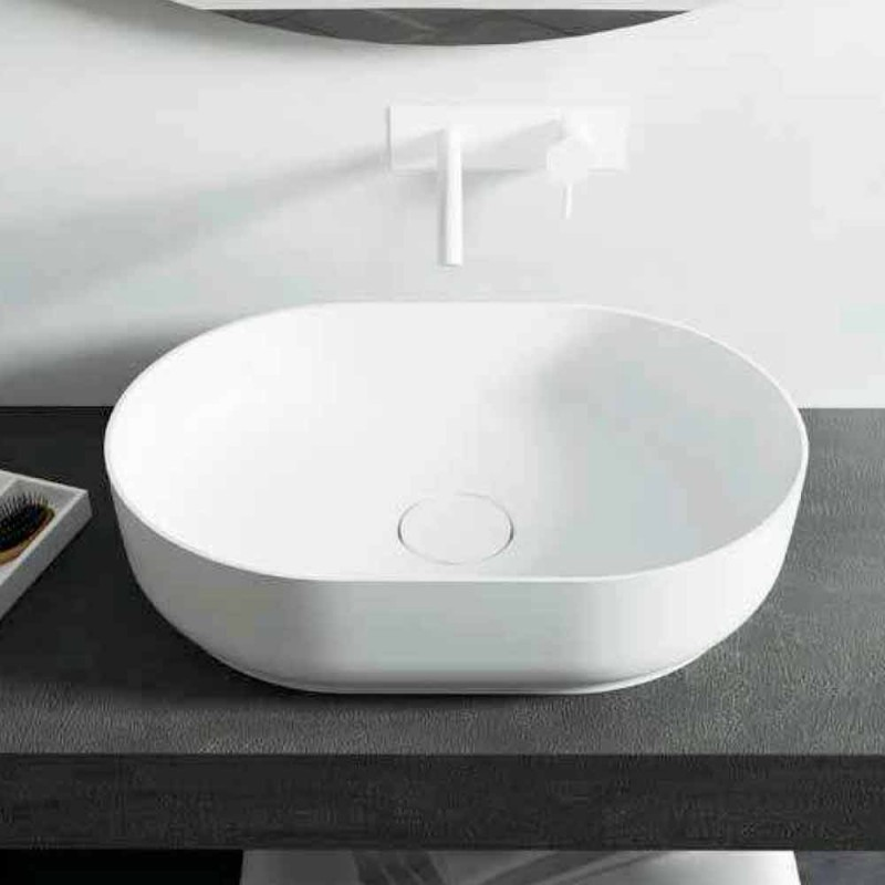 Frittstående design badrum handfat tillverkat i Italien Dalmine Medium