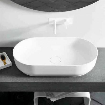 Dalmine Big, oval bänkskål för modern design, tillverkad i Italien