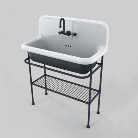 Tvättställ mycket keramiska struktur och metallgallret Taylor