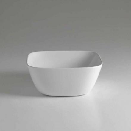 Tillverkad i Italien Design Square Countertop Keramisk handfat - Sonne