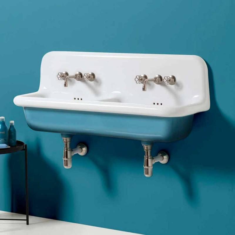 Modernt design keramiskt dubbelväggsbadkar med handfat Jack