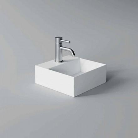 Fyrkantig eller rektangulär modern design Keramisk tvättställ Tillverkad i Italien - Act