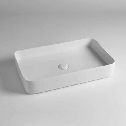 Rektangulär bänkskål i färgad keramik tillverkad i Italien - Dable