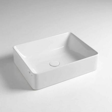 Rektangulär bänkskål Tvättställ L 50 cm i keramik Tillverkad i Italien - Rotolino