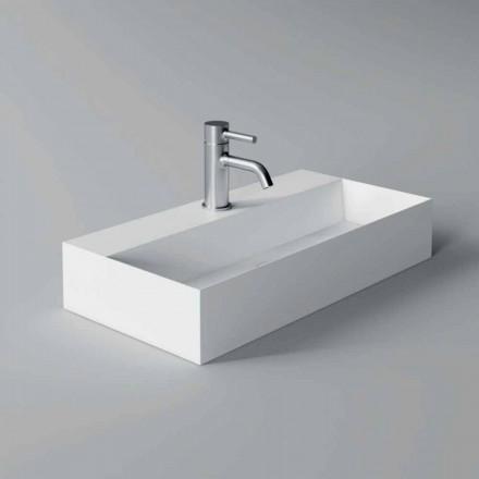 Modern rektangulär bänkskiva eller upphängd tvättställ 60x30 cm i keramik - Act