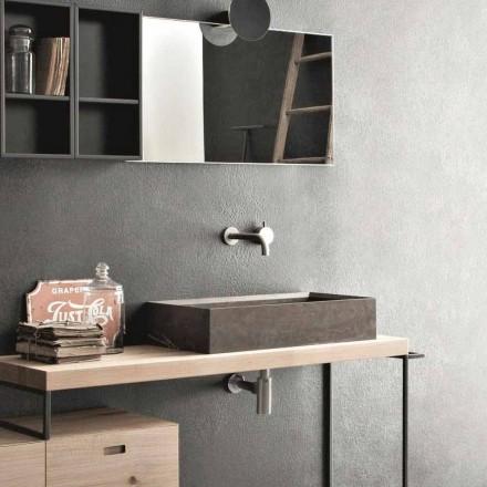 Rektangulärt och modernt tvättställ för bänkskiva i designsten - Farartlav3