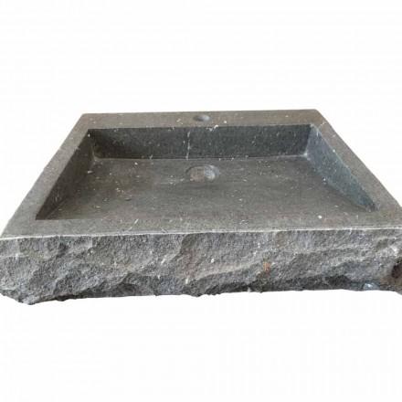 Nisa handvaskt rektangulärt handfat av sten andesit