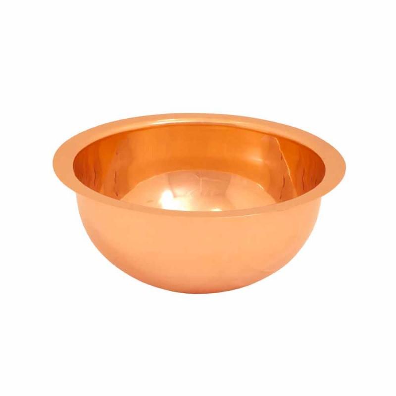 Round tvättställ i koppar design, handgjord, Plant