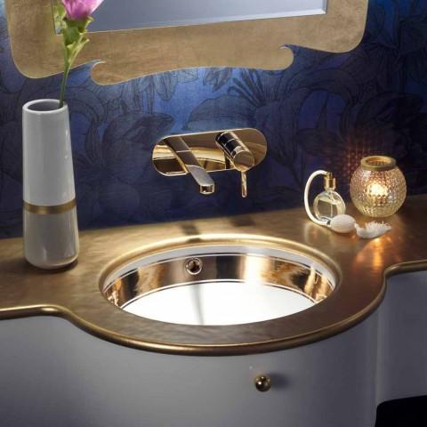 Barock undermonterad sjunker i eldlera och guld gjord i Italien, Egeiska havet