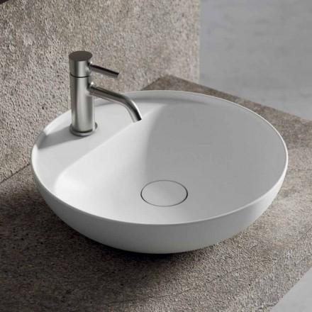 Runt tvättställ i bänkskivor i keramik Tillverkat i Italien för badrummet - Omarance