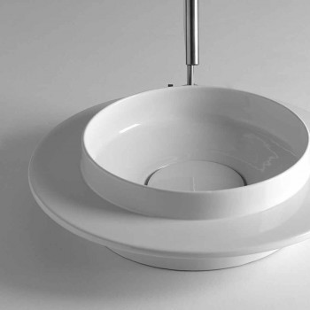 Round handfat badrum i modern design keramiska Kathy