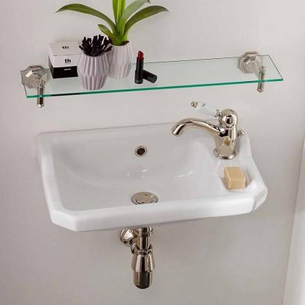 Handtvättställ i klassisk keramisk design, tillverkad i Italien - Nausica