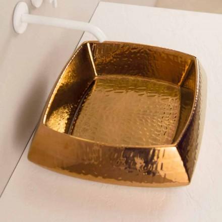 Designer tvättställ i brons keramik gjord i Italien Simon