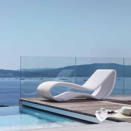 Breez 2.0 av Talenti design vit trädgård dagbädd
