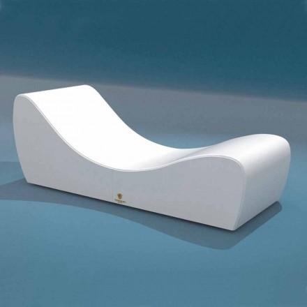 Cot koppla Wave Trona white nautiska läderimitation som gjorts i Italien