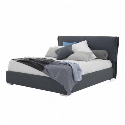 Säng med dubbla behållare i tyg eller faux läder tillverkad i Italien - Runner