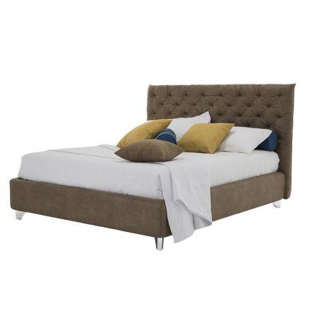 Sängbehållare Dubbel vadderat tyg eller fuskläder Tillverkat i Italien - Euro