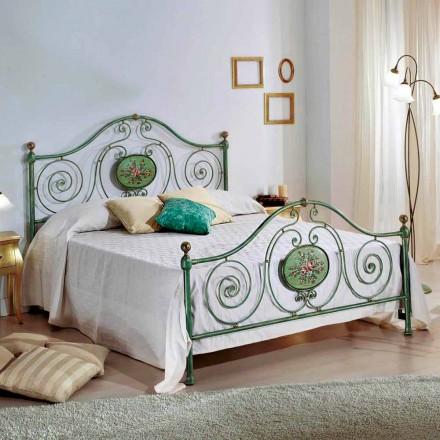 Klassiska dubbelsäng med smidesjärn dekoration Rachael