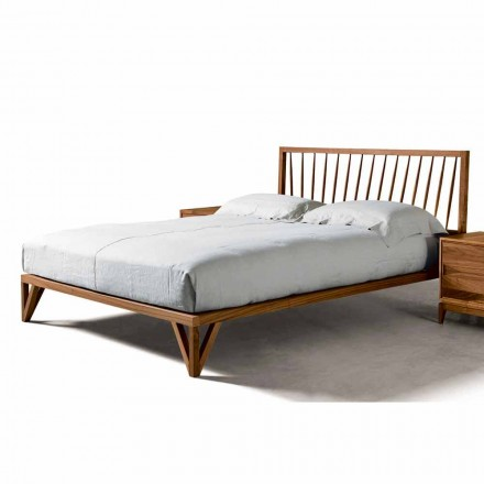 Design dubbelsäng 160x200cm med solid Alain valnötbas