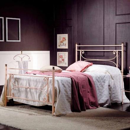 Full säng och en halv kvadrat smidesjärn hamras Claudia