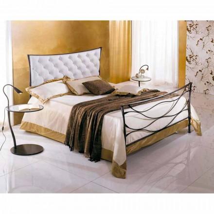 En säng och en halv Square smidesjärn Hydra Capitonnè