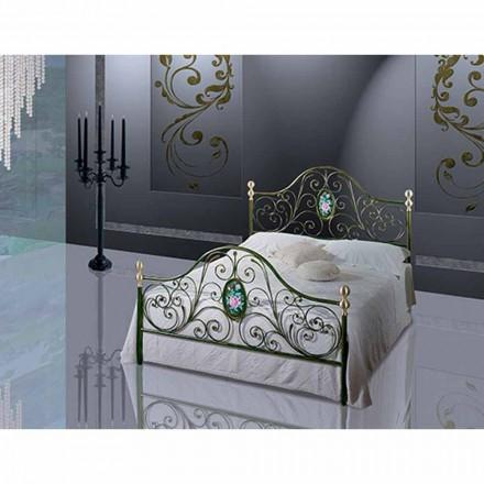 En säng och en halv Square smidesjärn Turquoise