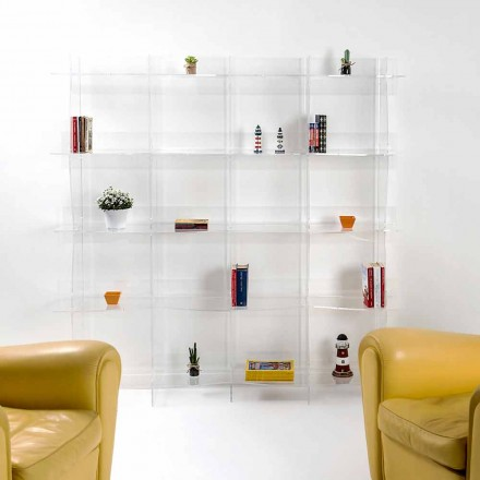 fristående bokhylla / vägg modern design Pam transparent