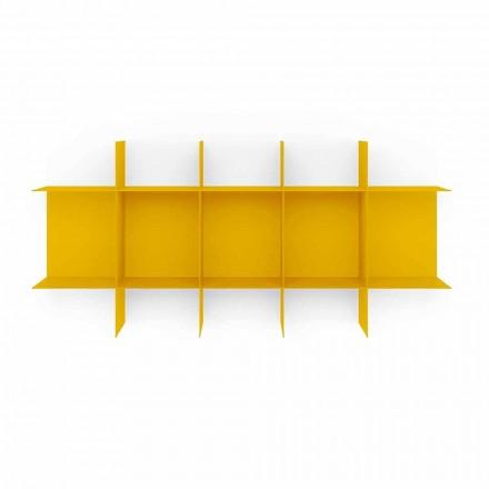 Väggbokhylla i modulär design i metall av hög kvalitet - Roger