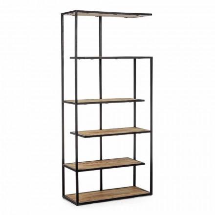 Golvbokhylla med Homemotion målad stålkonstruktion - Borino