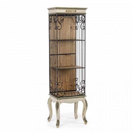 Klassisk golvbokhylla i trä och stål Homemotion - Verena