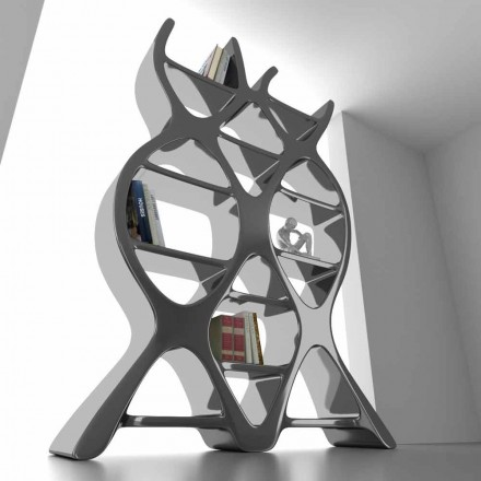 Samtida designgolv bokhylla i Solid Surface DNA