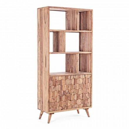 Vintage Design Golvbokhylla i trä och stål Homemotion - Ventador