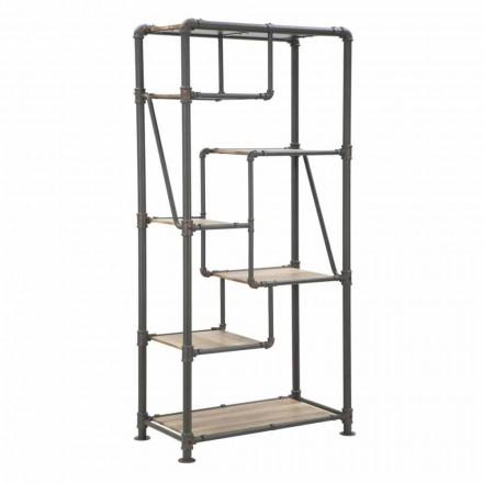 Golvbokhylla för modern design i MDF och metall - Merve