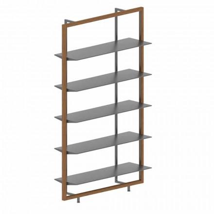 Golvbokhylla i metall, aluminium och trä Tillverkad i Italien - Bonaldo Aliante