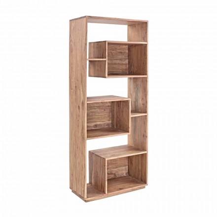 Homemotion Modern golvbokhylla med Acacia-träkonstruktion - Genza