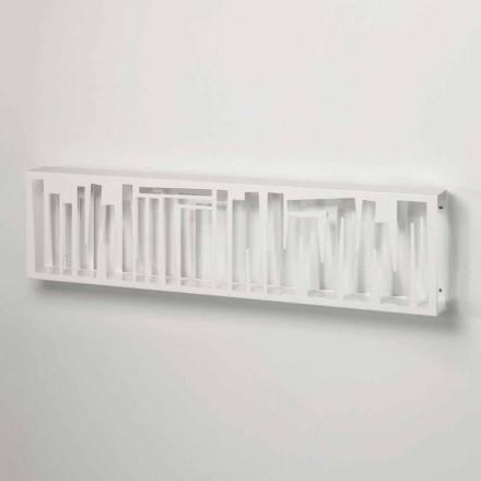 Väggbokhylla för modern design i vitmetall tillverkad i Italien - Bolivia