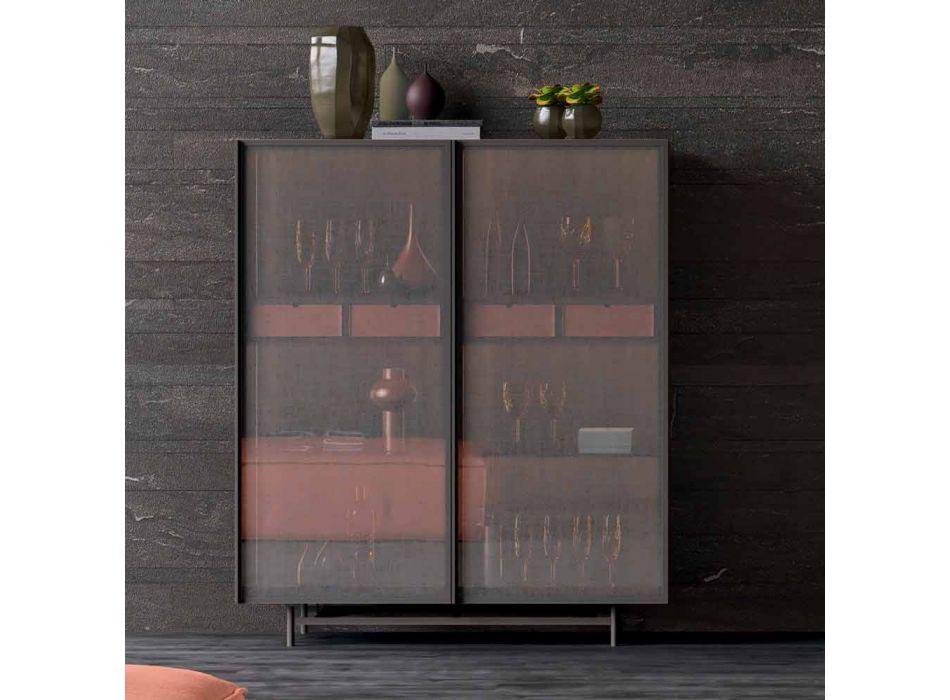 2-dörrars skänk i ekologiskt trä- och metalldesign Vardagsrum eller entré - Aaron