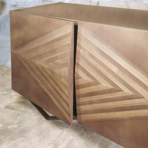 2 eller 4 dörrar träskänk med kristallhyllor tillverkad i Italien - Gardena