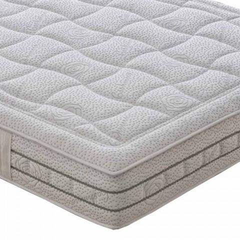 25 cm dubbel madrass av hög kvalitet tillverkad i Italien - platina