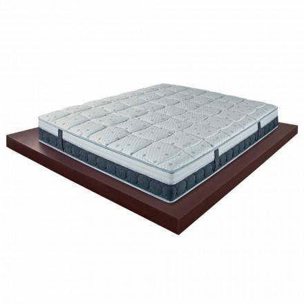 Dubbel madrass H 25 cm i lyxminne Made in Italy - Villa