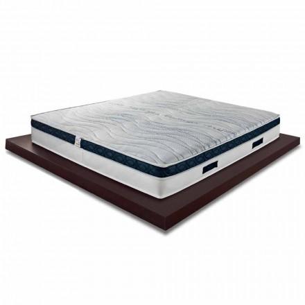 Kvadratisk och medelhög madrass 22 cm i lyxminne tillverkad i Italien - Duran