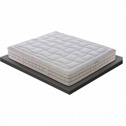 En och en halv madrass i lyxminne H 25 cm Tillverkad i Italien - platina