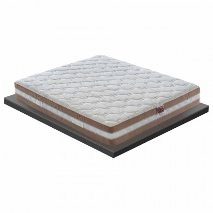En och en halv madrass i minne Xform 25 cm hög Tillverkad i Italien - träkol