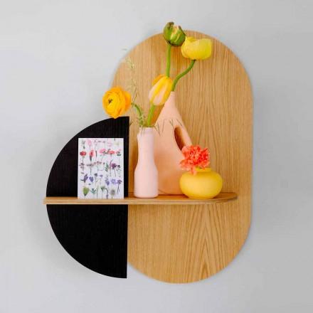Modern vägghylla med 3 modulära plywoodpaneler - Elena