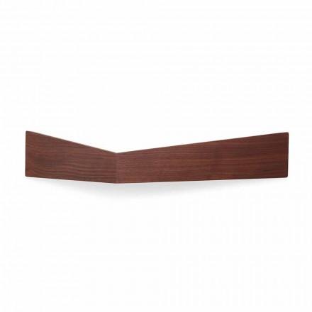Design vägghylla i plywood och metall med klädhängare - Berema